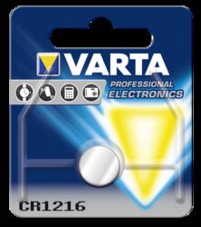 Pilas: 1 Varta electronic CR 1216