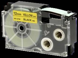 Accesorios para rotuladoras: Casio XR-12 YW 12 mm negro/amarillo