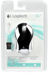 Ratones -sin cable-: Logitech M 187 Mini Ratón inalámbrico USB negro