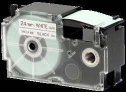 Accesorios para rotuladoras: Casio XR-24 WE 1 24 mm negro / blanco