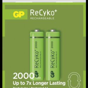 Baterías recargables -universales-: 1x2 GP ReCyko+ NiMH pilas Mignon AA 2000 mAH 120200AAHCC2
