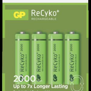 Baterías recargables -universales-: 1x4 GP ReCyko+ NiMH pilas Mignon AA 2000 mAH 120200AAHCC4