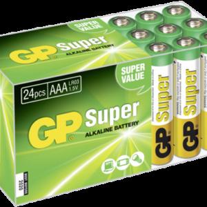 Pilas: 1x24 GP Super Alkaline Micro AAA LR 03 PET Box      03024AB24