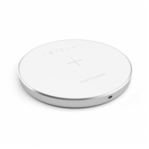 Cargadores- Inducción: Satechi Wireless Charging Pad plata