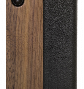 Protectores -telecomunicaciones-: Woodcessories EcoFlip Business iPhone X walnut + piel