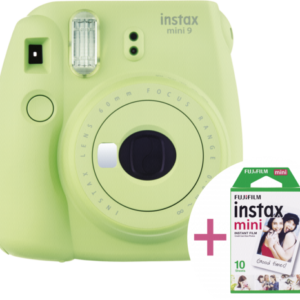 Cámaras instantáneas: Fujifilm instax mini 9 set New incl. Film verde lima
