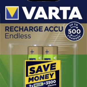 Baterías recargables -universales-: 10x2 Varta RECHARGE ACCU Endless 2500 mAH AA Mignon NiMH