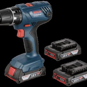 Atornilladores a batería: Bosch GSR 18V-21 Profesional + 3x Baterías + L-Boxx