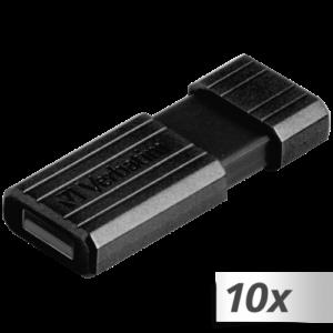 Memorias USB: 10x1 Verbatim Store n Go     8GB Pinstripe USB 2.0 negro