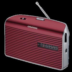 Radios: Grundig Music 60 rojo/plata