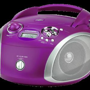 Radio cassettes y reproductores de CD: Grundig RCD 1445 USB lila/plata