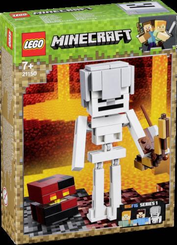 Lego: LEGO Minecraft 21150 BigFig: Esqueleto con Cubo de Magma