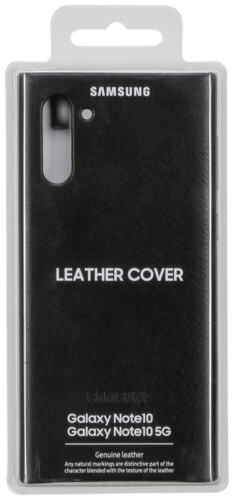 Protectores -telecomunicaciones-: Samsung Leather Cover Black EF-VN 970 Galaxy Note 10