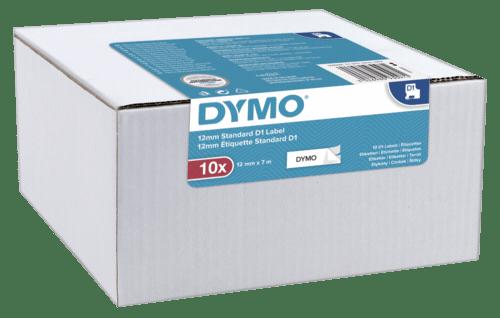 Accesorios para rotuladoras: 1x10 Dymo D1 Etiqueta 12mmx7m negro en blanco